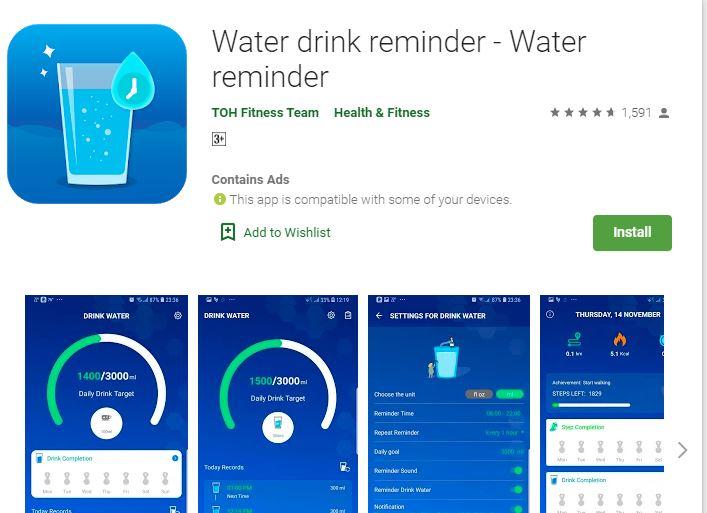 Water drink reminder - Water reminder